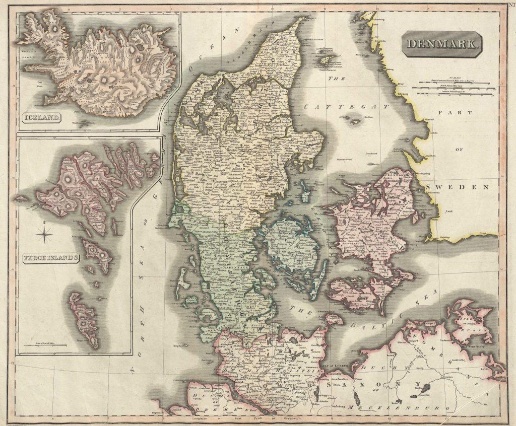Denmark Iceland Map Arctic Nature Hotel