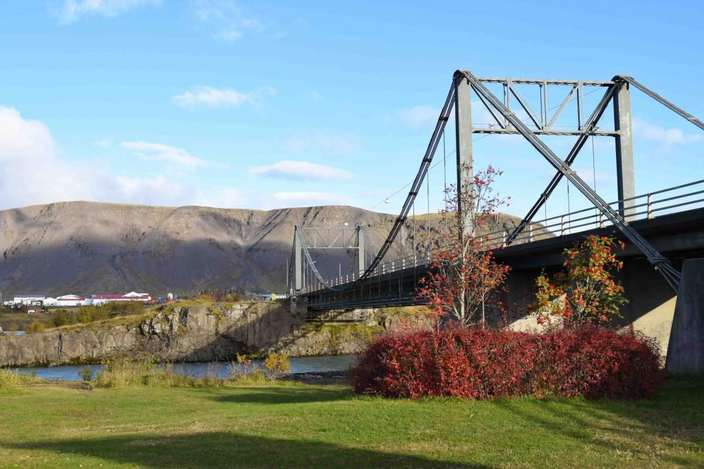 The Bridge over Ölfusá River in Selfoss, south Iceland