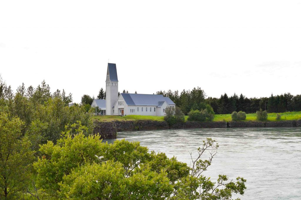Selfoss Church in Selfoss south Iceland